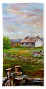 Eastern Townships Quebec Country Scene Beach Sheet