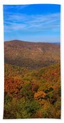 Eaton Hollow Overlook On Skyline Drive In Shenandoah National Park Beach Towel