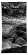Eau Claire Dells Black And White Flow Beach Towel