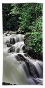 Eau Claire Gorge Water Fall Beach Towel