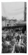 Ebbets Field Crowd 1920 Beach Towel