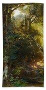 Ebert, Carl 1821 Stuttgart - 1885   Inside A Forest. Beach Towel