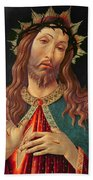 Ecce Homo Or The Redeemer Beach Towel by Botticelli