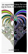 Ecclesiastes 3 A Time To Love And A Time To Hate Fractal Beach Towel