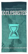 Ecclesiastes Books Of The Bible Series Old Testament Minimal Poster Art Number 21 Beach Towel