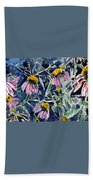 Echinacea Cone Flower Art Beach Towel