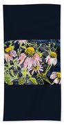 Echinacea Coneflower 2 Beach Towel