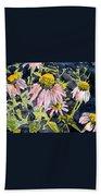Echinacea Coneflower 2 Beach Sheet