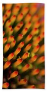 Echinacea Coneflower Abstract Beach Towel