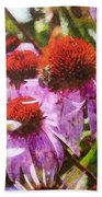 Echinacea Watercolor 2015 Beach Towel