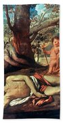 Echo And Narcissus Beach Towel