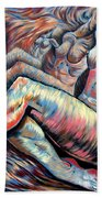 Echo Of A Nude Gesture II Beach Towel