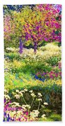 Echoes From Heaven, Spring Orchard Blossom And Pheasant Beach Towel