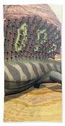 Edaphosaurus Dinosaur - 3d Render Beach Towel