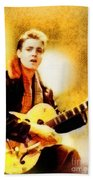 Eddie Cochran, Music Legend By John Springfield Beach Towel