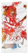 Eddie Van Halen Paint Splatter Beach Towel