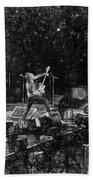 Eddie Vedder Rock God Pose Pearl Jam Beach Towel