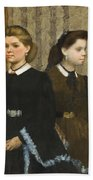 Edgar Degas - The Bellelli Sisters Giovanna And Giuliana Bellelli Beach Towel