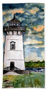 Edgartown Lighthouse Martha's Vineyard Mass Beach Towel