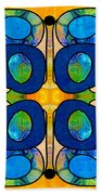Edible Extremes Abstract Bliss Art By Omashte Beach Towel