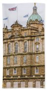 Edinburgh Bank Of Scotland Building Beach Towel