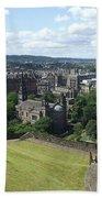 Edinburgh Castle View #6 Beach Sheet