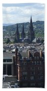 Edinburgh Castle View #8 Beach Towel