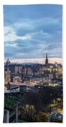 Edinburgh From Calton Hill Beach Towel
