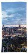 Edinburgh From Calton Hill Beach Sheet