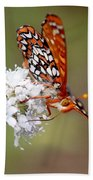 Edith's Checkerspot Five Beach Towel