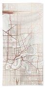 Edmonton Street Map Colorful Copper Modern Minimalist Beach Towel