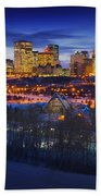 Edmonton Winter Skyline Beach Towel
