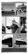 Edmund Fitzgerald Black And White Beach Sheet