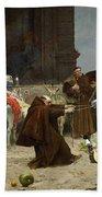 Eduardo Zamacois Y Zabala , Returning To The Monastery 1868 Beach Towel