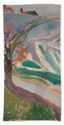 Edvard Munch , Landscape, Kragero Beach Towel