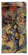 Edward Atkinson Hornel 1864 - 1933 Carnival Day, Japan Beach Towel