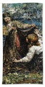 Edward Atkinson Hornel 1864 - 1933 The Butterfly Catchers Beach Towel