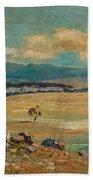 Edward Cairns Officer 1871-1921 Landscape Beach Towel