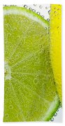 Effervescent Lime And Lemon By Kaye Menner Beach Towel