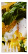 Egg And Greens Beach Towel