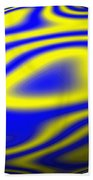 Egg In Space Blue And Yellow Beach Towel