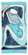 Eggtree Abstract Art Figure Beach Towel