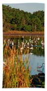 Egret Lake Beach Towel