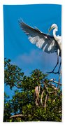 Egret Landing Beach Towel
