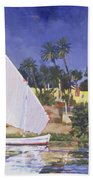 Egypt Blue Beach Towel by Clive Metcalfe