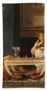 Egyptian Chess Players Beach Towel