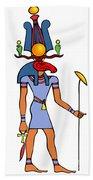 Egyptian God - Khensu Beach Towel