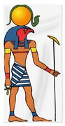 Egyptian God Of The Sun - Ra Beach Towel