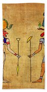Egyptian Gods And Goddness Beach Towel