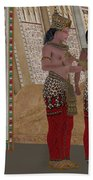 Egyptian King And Queen Beach Towel